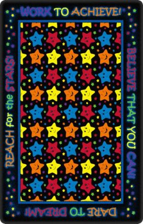Kids Flagship Rugs Reach-For-The-Starsblack Black  13161