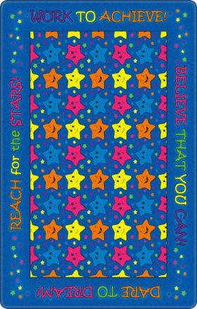Kids Flagship Rugs Reach-For-The-Stars-Indigo Blue  13162
