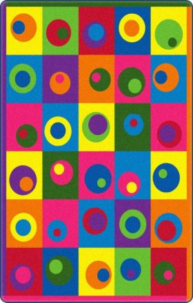 Kids Flagship Rugs Silly-Circles Multicolor  13164