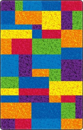 Kids Flagship Rugs Terrific-Squares Multicolor  13165