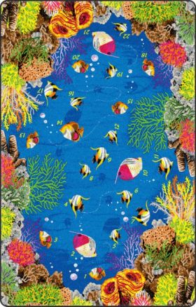 Kids Flagship Rugs Underwater-Counting Blue  13166
