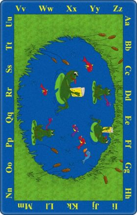 Kids Flagship Rugs Frogs Blue  13169