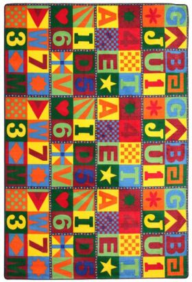 Kids Flagship Rugs Floors-That-Teach Muticolor  13171