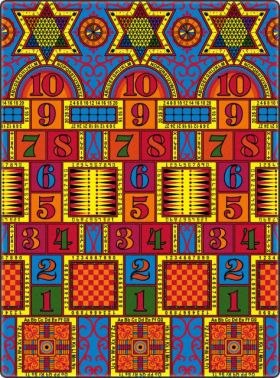 Kids Flagship Rugs Games-That-Teach Muticolor  13174