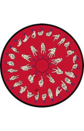Kids Flagship Rugs Hands-That-Teach Red  13177