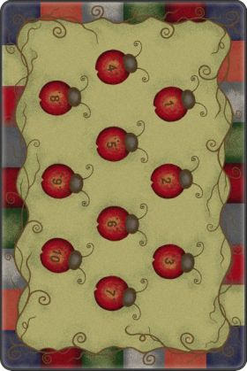 Kids Flagship Rugs Ladybug-Numbers-Tranquility Green  13180
