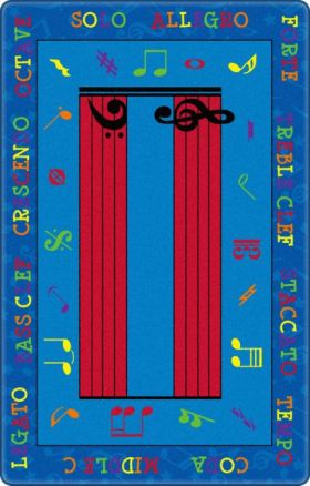 Kids Flagship Rugs Music-Is-Fun Blue  13184