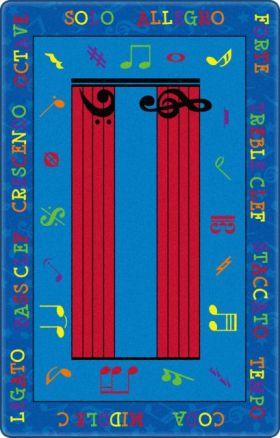 Kids Flagship Rugs Music-Is-Fun Blue  13184
