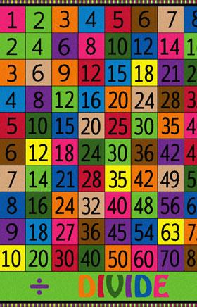 Kids Flagship Rugs Multiple-Divide Multicolor  13186