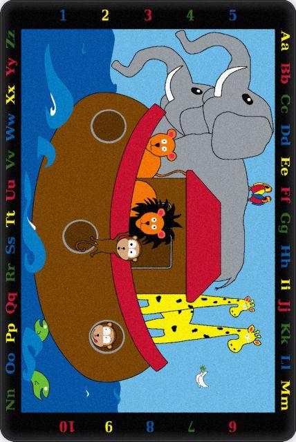 Kids Flagship Rugs Noahs Pals Blue Nylon 13189