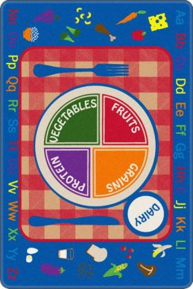 Kids Flagship Rugs Pick-A-Plate Multicolor  13190