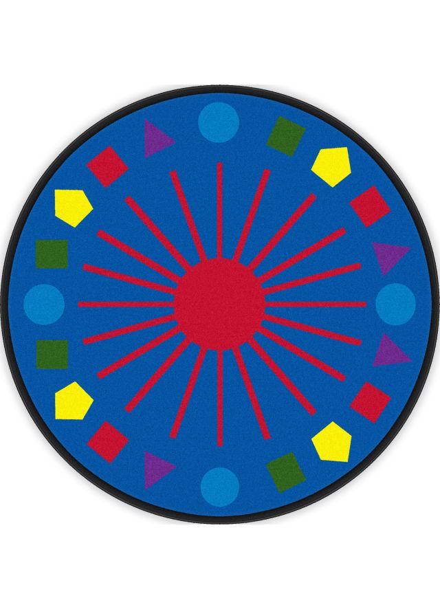 Kids Flagship Rugs Shapes Galore Blue Nylon 13194