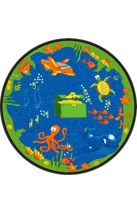Kids Flagship Rugs Sea-Hunt Blue  13195