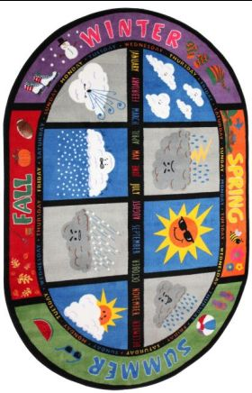 Kids Flagship Rugs Weather-Today Multicolor 13199