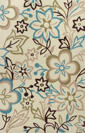 Kas Floral Rugs Bali Ivory 13236