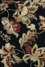 Kas Floral Rugs Colonial Black 13250