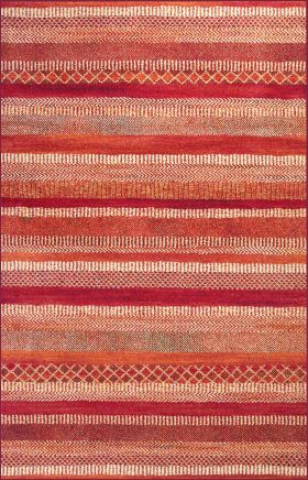 Kas Transitional Rugs Reflections Orange 13339