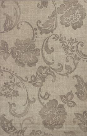 Kas Floral Rugs Reflections Grey 13343