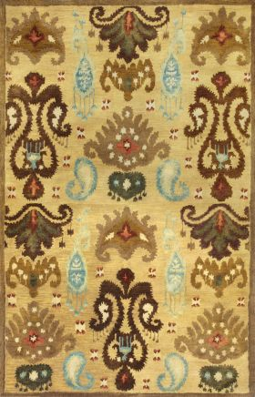 Kas Contemporary Rugs Tapestry Gold 13366
