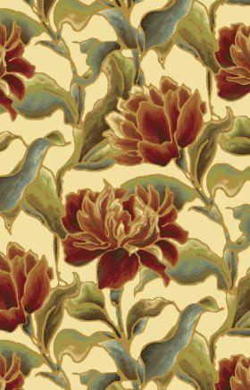 Kas Floral Rugs Versailles Ivory 13382