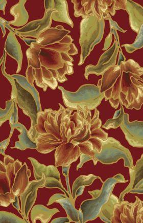 Kas Floral Rugs Versailles Red 13383