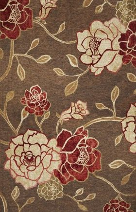 Kas Floral Rugs Horizon Brown 14010