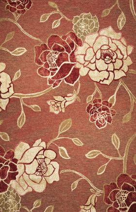Kas Floral Rugs Horizon Red 14013
