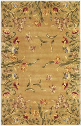 Kas Floral Rugs Emerald Gold  14019