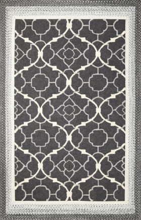 Kas Braided Rugs Fairfax Black 14040