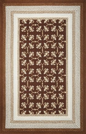Kas Braided Rugs Fairfax Brown 14041