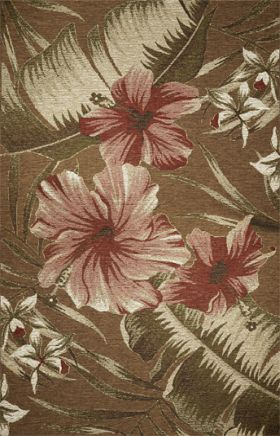 Kas Floral Rugs Horizon Brown 14050