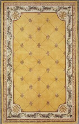 Kas Traditional Rugs Jewel Yellow 14058