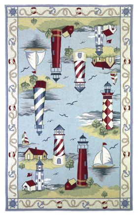 Kas Kids Rugs Colonial Blue 14135