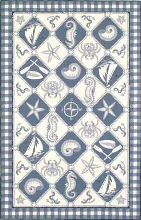 Kas Contemporary Rugs Colonial Blue 14140