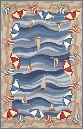 Kas Contemporary Rugs Colonial Blue 14142