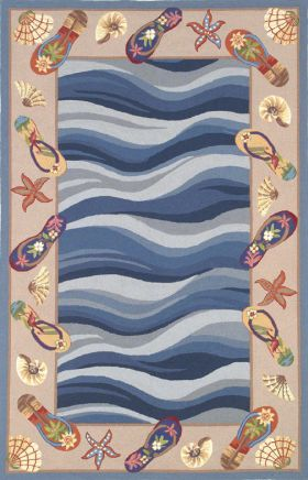 Kas Contemporary Rugs Colonial Blue 14143