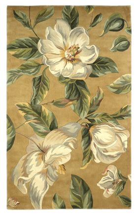 Kas Floral Rugs Catalina Yellow 14166