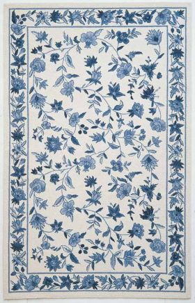 Kas Floral Rugs Colonial Ivory 14182