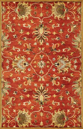 Kas Traditional Rugs Syriana Orange 14326