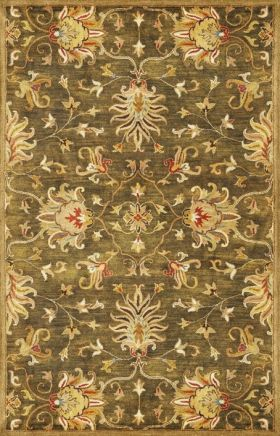 Kas Traditional Rugs Syriana Green 14327