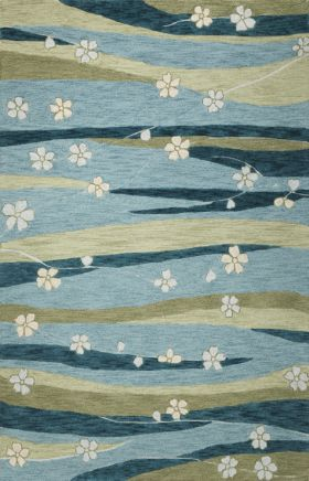 Kas Contemporary Rugs Milan Blue 14359