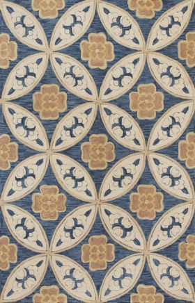 Kas Contemporary Rugs Milan Blue 14362