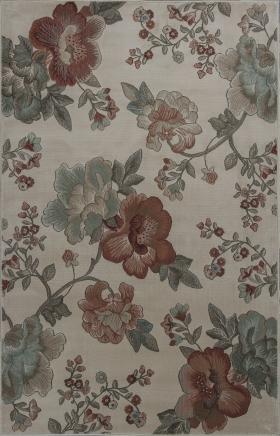 Kas Floral Rugs Geneva Ivory 14398
