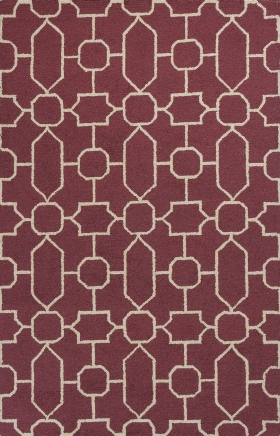 Kas Contemporary Rugs Mercer Red 14413