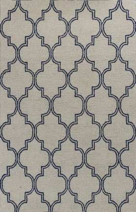 Kas Contemporary Rugs Mercer Ivory 14419
