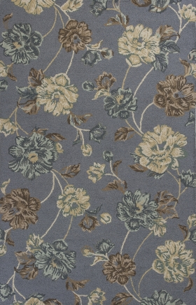 Kas Floral Rugs Mercer Blue 14422
