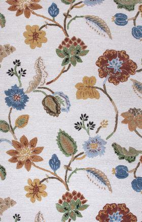 Jaipur Floral Rugs Blue Multicolor 14512