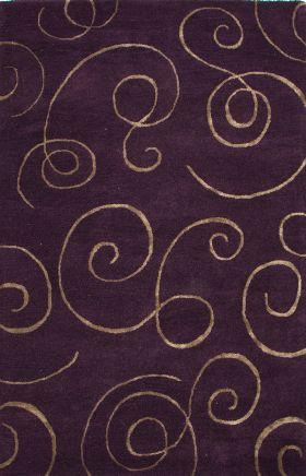 Jaipur Transitional Rugs Baroque Purple 14536