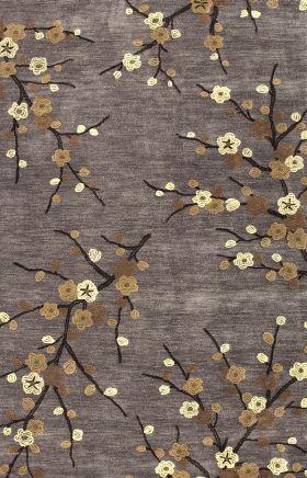 Jaipur Floral Rugs Brio Gray 14558