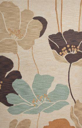 Jaipur Floral Rugs Brio Ivory 14567